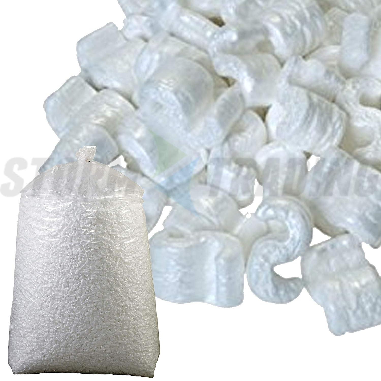 5 pie cúbico (pies cúbicos) suelto llenar cacahuetes del embalaje Chips de poliestireno: Amazon.es: Oficina y papelería