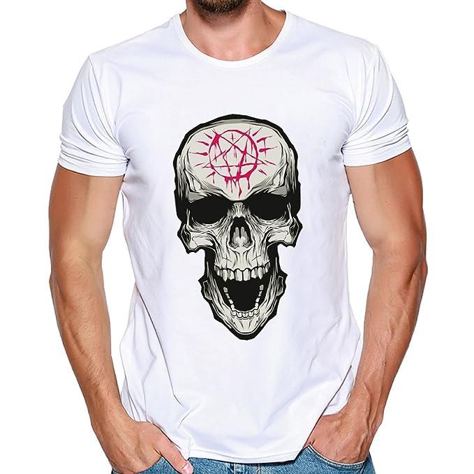 Hombres Que Imprimen la Blusa de la Camiseta de Manga Corta de la Camisa de Las Camisetas por Internet.: Amazon.es: Ropa y accesorios