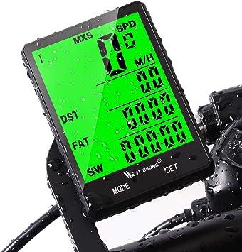 Computadora de ciclo, velocímetro del odómetro de la bici para ...