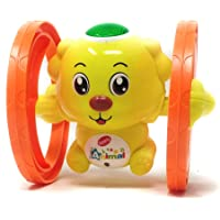 Akrobo Funny Key Operated Wind Up Light and Sound Rolling Dog Toy - Pack of 1