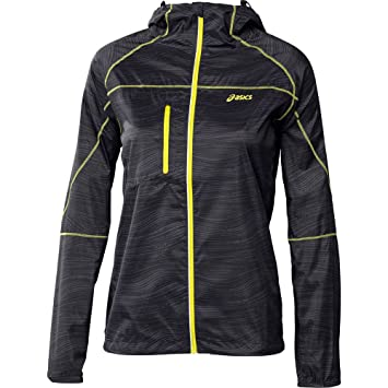 58e77a3d Asics Print Fujitrail Packable Womens Running Jacket - Black-L