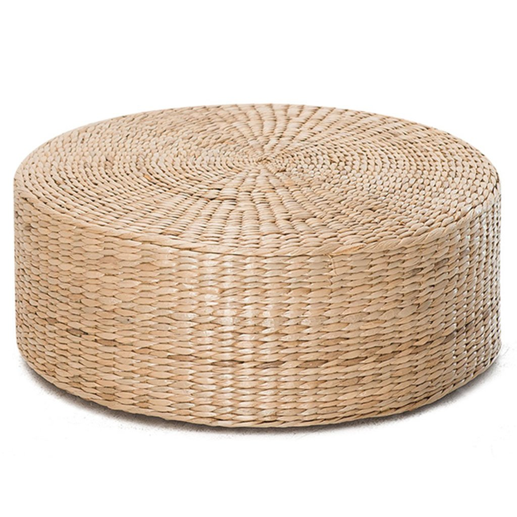 Cushions for Circular Rug for Grass Rattan Meditation pad Can Withstand 300KG Sedentary is not Tired Not Easily Deformed Furniture Accessories (Color : Wood Color, Size : Diameter 48.5 cm/19 inch)