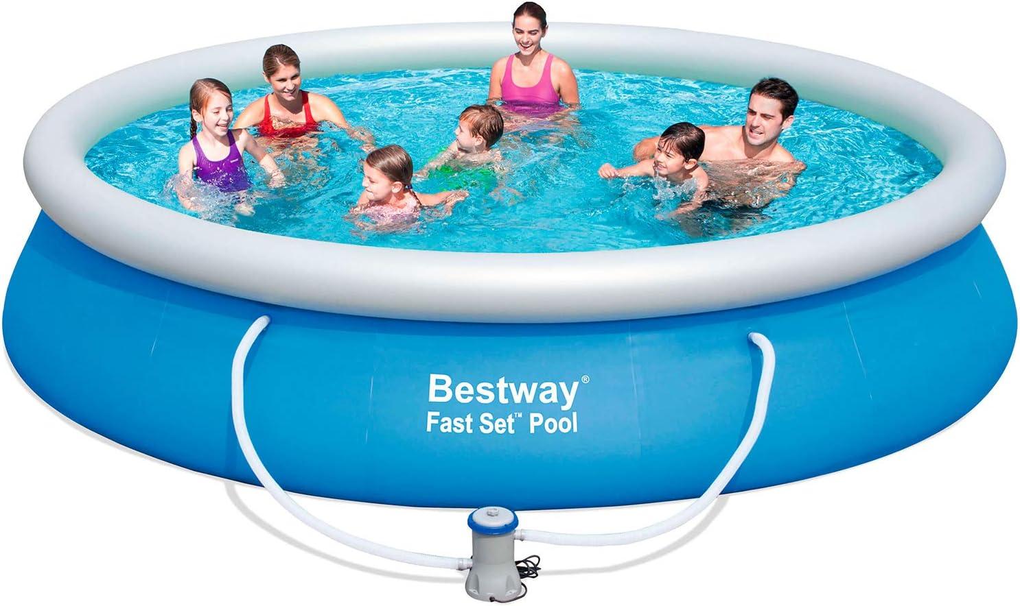 Bestway 57245 - Piscina Desmontable Autoportante Fast Set 427x91 cm Depuradora de Cartucho de 2.006 litros/hora