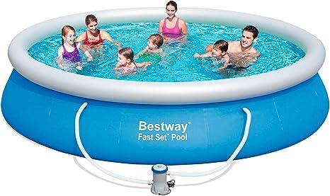 Bestway 57245 - Piscina Desmontable Autoportante Fast Set 427x91 cm Depuradora de Cartucho de 2.006 litros/hora: Amazon.es: Jardín