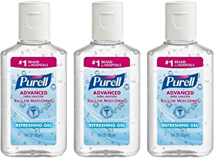 Purell Advanced Hand Sanitizer Refreshing Gel, 1 Fl Oz (3-Pack)