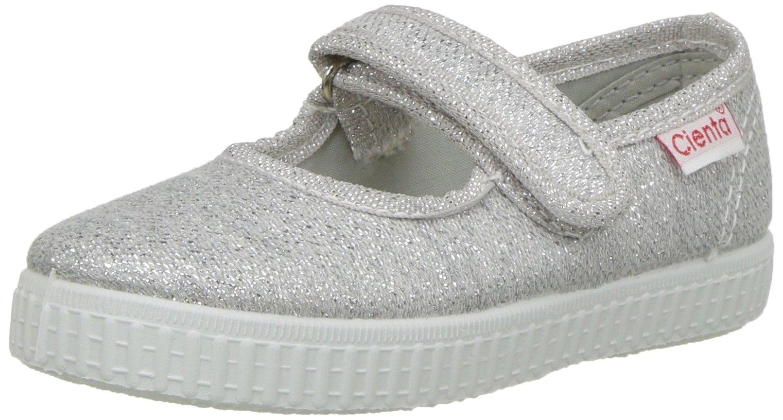 Cienta 56013 Glitter Mary Jane Fashion Sneaker,Silver,30 EU (12 M US Toddler)