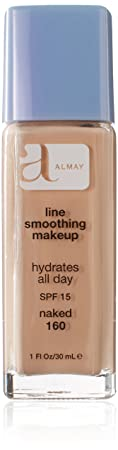 Almay Line Smoothing Makeup with SPF 15, Naked 160, 1-Ounce Bottles Pack of 2