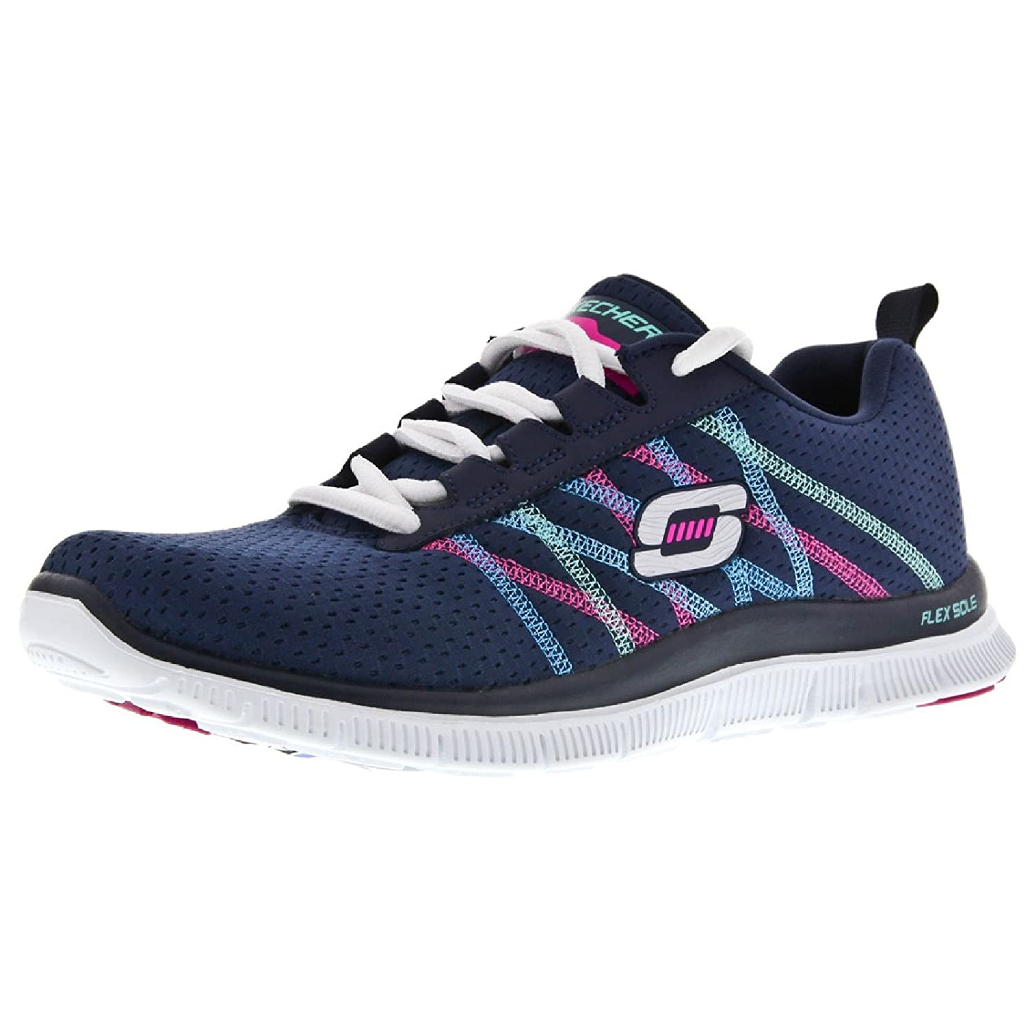 Skechers Flex Appeal Something Fun - Zapatillas para mujer: Amazon.es: Zapatos y complementos