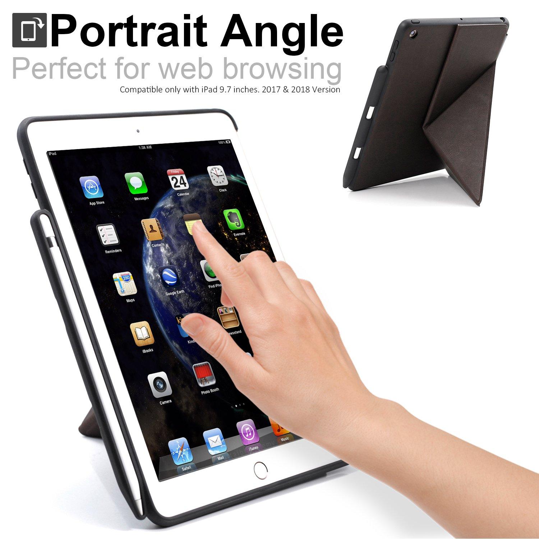 2017 /& 2018 con Soporte para bol/ígrafo Pantalla Horizontal y Vertical Azul iPad 9.7 Inch 2017 y 2018 Funda para iPad de 9,7 Pulgadas KHOMO Doble Serie de Origami
