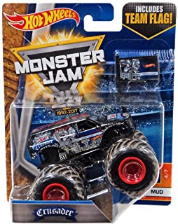Hot Wheels 2017 Monster Jam 1:64 Scale Truck with Team Flag - Crusader