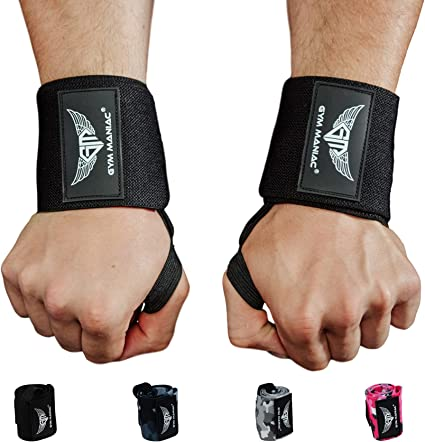 Strength Training GAINETICS Weightlifting Wrist Wraps Quality Wrist Support with Heavy Duty Thumb Loop Cross Training Bodybuilding Best Wrap for Powerlifting