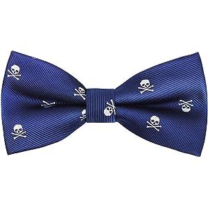 Alizeal Calavera–Corbata Estrecha para Hombre (Azul Klein): Amazon ...
