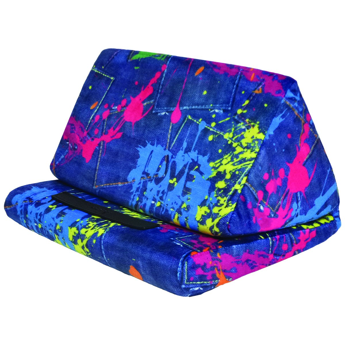 iScream Tablet Pillow (Paint Splatter Denim) by iscream