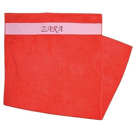 Toalla de ducha Impreso con nombres Zara Rojo