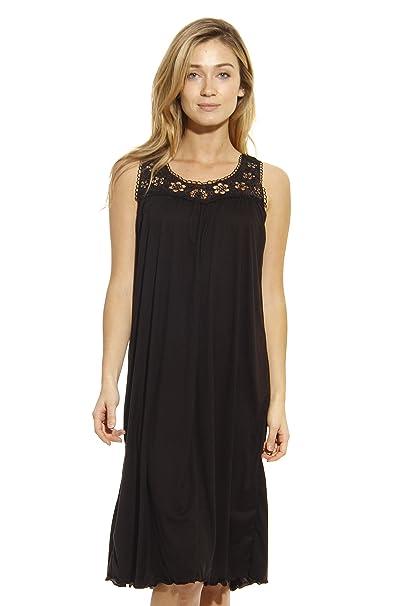 Just Love Silky Soft Nightgown Women Sleepwear Crochet Trim Sleep ... a6220bb73