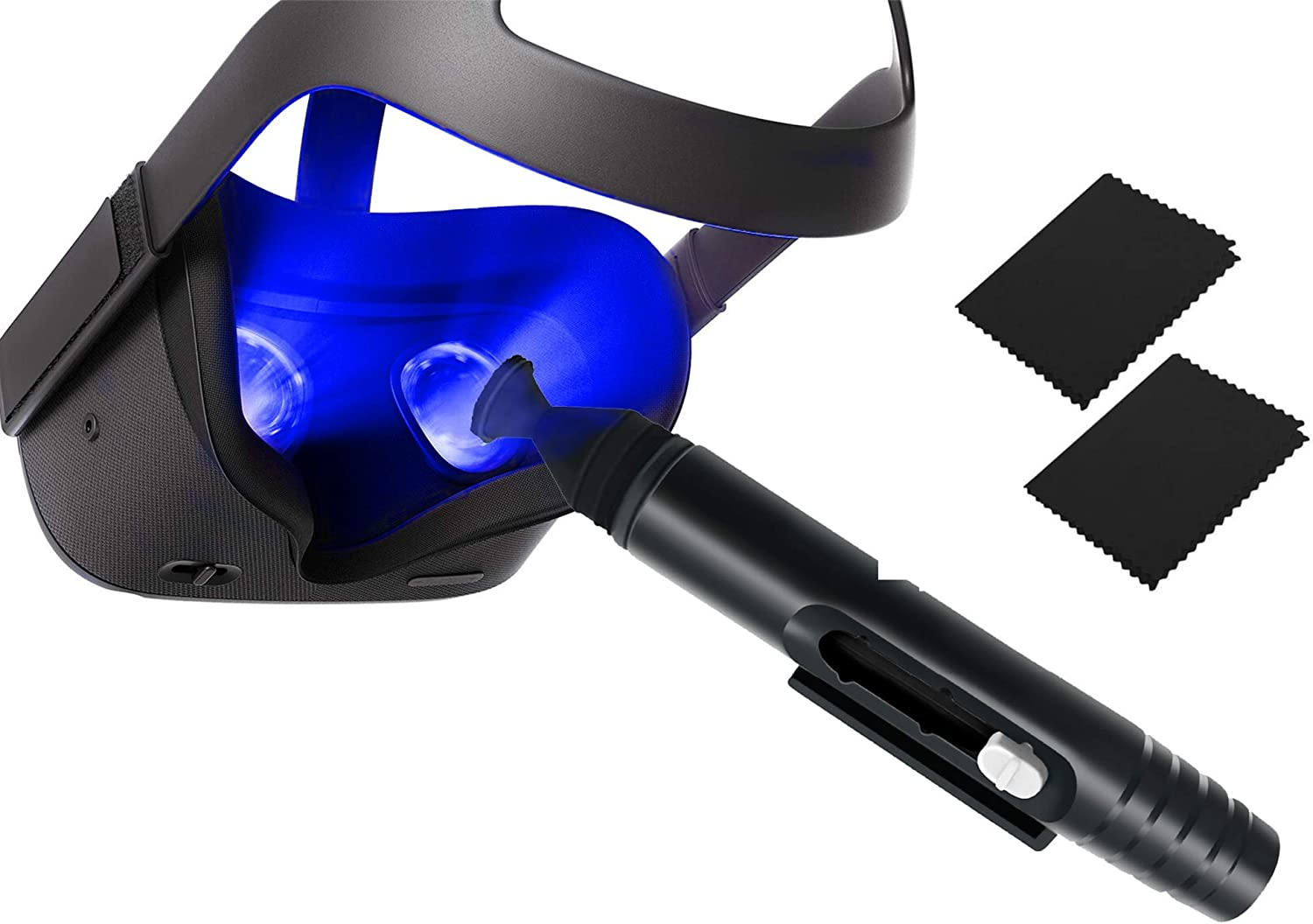 AR/VRLens Cleaning Pen + 2 MicrofiberCloths for Oculus Quest 2/Quest/HTC Vive/Cosmos/Valve Index /PS4 VR Headset/Rift S, Drone, Microsoft HoloLens, Cameras andMostVirtual RealityAccessories