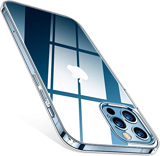TORRAS Coque transparente transparente pour iPhone 12, compatible pour iPhone 12 Pro [non jaunissante] Coque transparente ultra fine en gel silicone ...