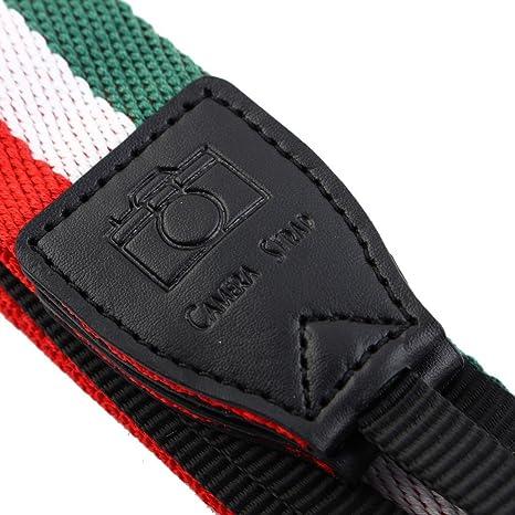 Amazon.com: eDealMax SHETU cámara autorizado antideslizante del Cuello del hombro Correa de Cuello Rojo Verde Para SLR: Electronics
