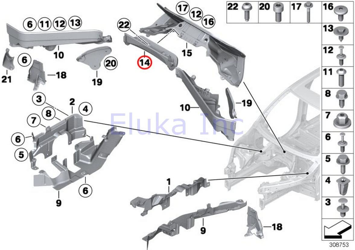 Amazon.com: BMW Genuine Engine Compartment Panel (Partition) Rear Center  Upper X5 3.0si X5 3.5d X5 4.8i X5 M X5 35dX X5 35iX X5 50iX X6 35iX X6 50iX  X6 M Hybrid X6: | 2008 Bmw X5 Engine Diagram |  | Amazon.com