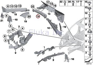 Amazon.com: BMW Genuine Engine Compartment Panel (Partition) Rear Center  Upper X5 3.0si X5 3.5d X5 4.8i X5 M X5 35dX X5 35iX X5 50iX X6 35iX X6 50iX  X6 M Hybrid X6:   X5 Engine Diagram      Amazon.com