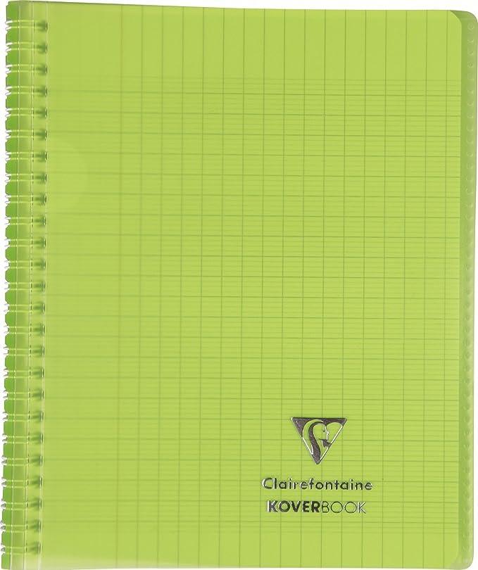 Clairefontaine 152438/C Quaderno di testo a spirale copertina in polipropilene a quadretti grandi 148/pagine 90/g 17/x 22/cm colore casuale