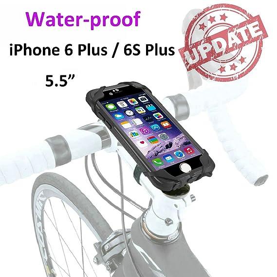 best service 63d02 64bdd Bike Mount Waterproof, Jebsens Rotatable Bicycle Phone Mount WPI6P, iPhone  6 Plus & 6S Plus Shock Resistant Stemcap Bike Mount Holder with Waterproof  ...