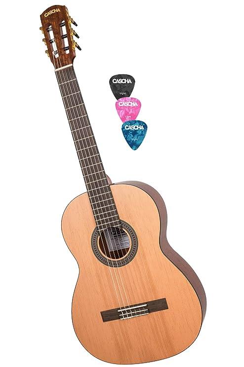 CASCHA 4/4 Guitarra Clásica, guitarra clásica para principiantes y ...