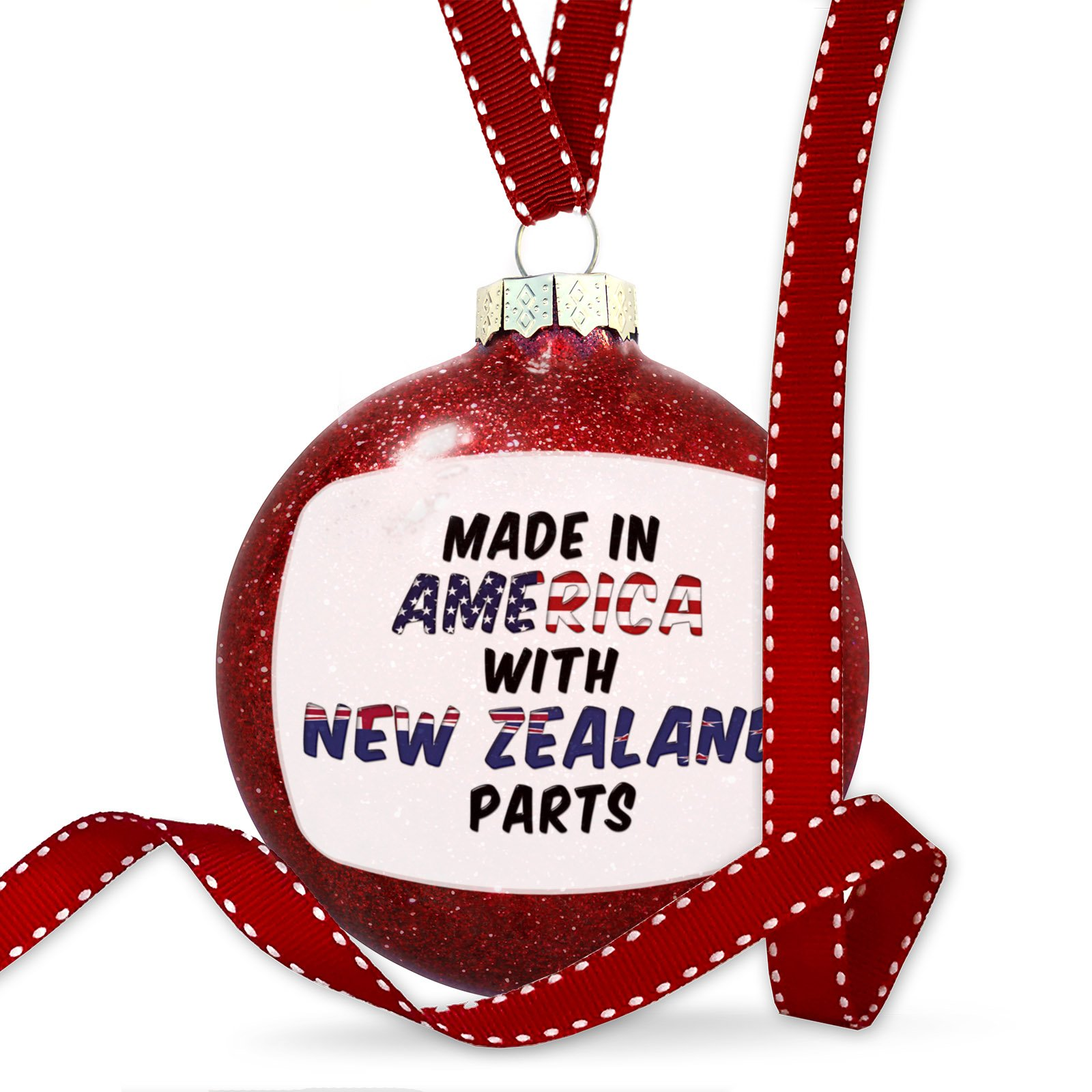 Christmas Decoration Made in America with Parts from New Zealand Ornament by NEONBLOND (Image #1)