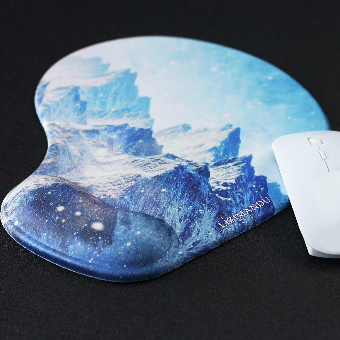 Lizimandu Non Slip Mouse Pad Wrist Rest For Office, Computer, Laptop & Mac - Durable & Comfortable & Lightweight For Easy Typing & Pain Relief-Ergonomic Support(Snow Mountain) by lizimandu (Image #5)
