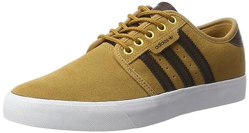 size 40 b0c50 3bb08 adidas Men s Seeley Sneaker Low Neck, (Mesa Dark Brown FTWR White 0), 5 UK  5 UK  Amazon.co.uk  Shoes   Bags