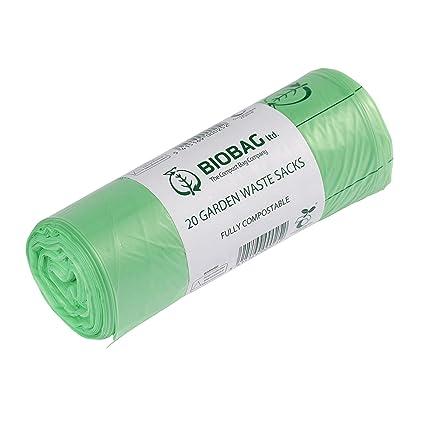 All-Green - Bolsa de Basura biológica (80 l, para jardín, 20 Bolsas y guía de compostaje), Color Verde