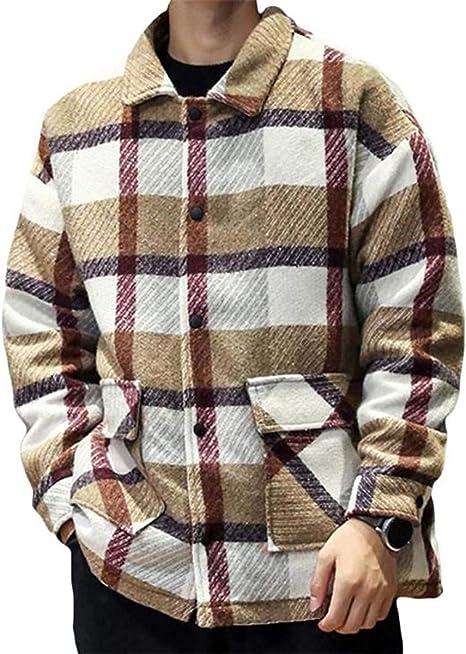 [エージョン]ジャケット メンズ チェック柄 メルトンジャケット 大きいサイズ ラシャコート ショート オシャレ アウター ファッション 厚手 ブルゾン カジュアル 防寒 秋 冬