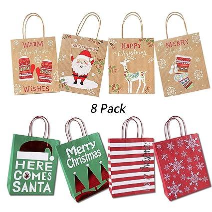Bolsas De Regalo De Navidad, Un juego de bolsas de papel ...