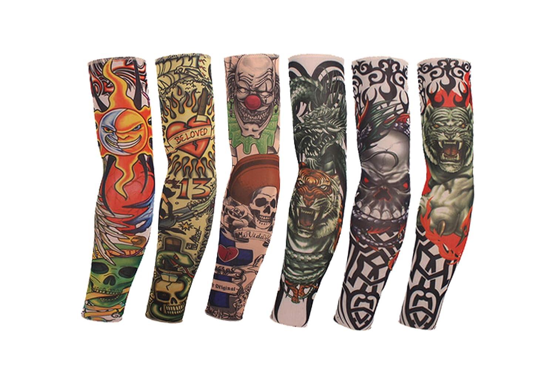 Mangas de tatuaje 3D, 6 unidades, diseño temporal, mangas de ...