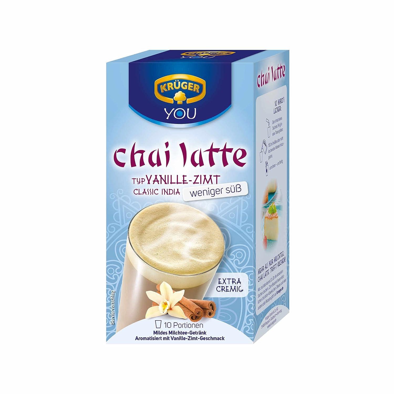 Krüger Chai Latte Classic India, Té con Leche, Vainilla-Canela, 10 Bolsas: Amazon.es: Alimentación y bebidas