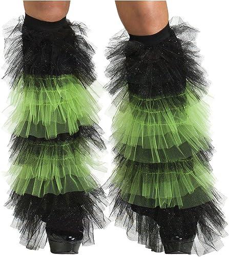 7bbb7e930c0d4 Amazon.com: DISC0UNTST0RE Boot Covers Tulle Ruffle Black & Green ...