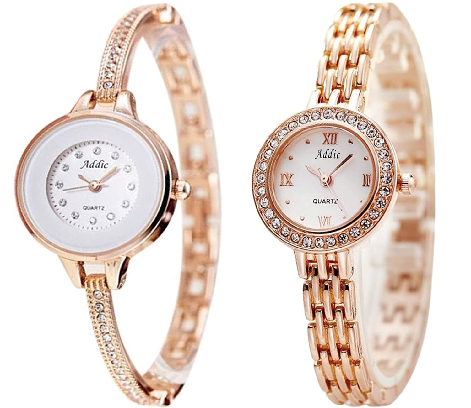 28cca56a012 Buy Addic Analogue White Dial Women s Watches -Combo of 2 Online at Low  Prices in India - Amazon.in