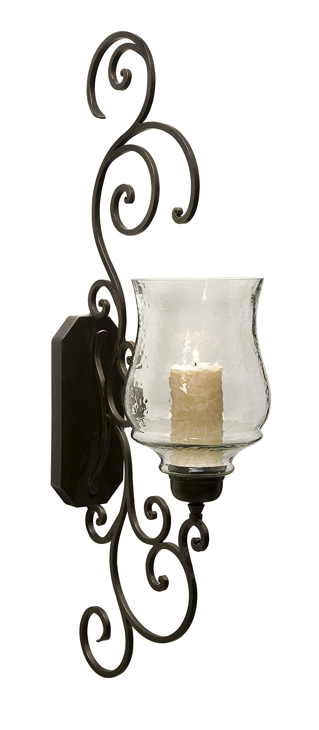 IMX-7024 Elegant Angelina Grand Scrollwork Candle Sconce by Imax