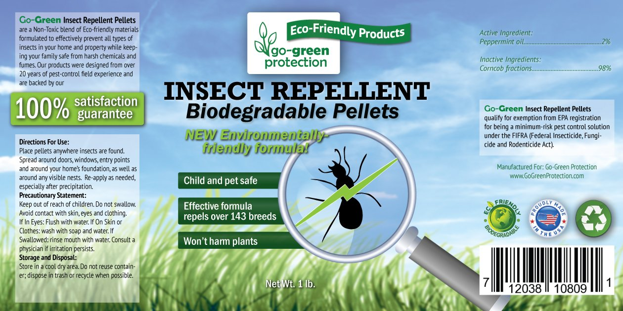 Amazon.com : Biodegradable Insect Repellent by Go-Green | Natural ...