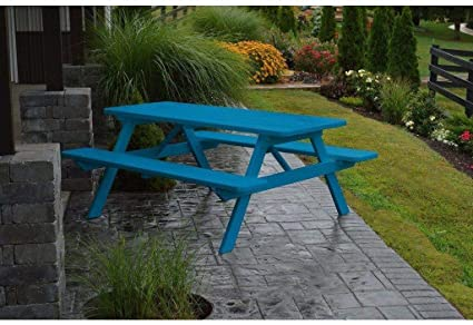 Pleasant Amazon Com A L Furniture Co Yellow Pine 5 Picnic Table Squirreltailoven Fun Painted Chair Ideas Images Squirreltailovenorg