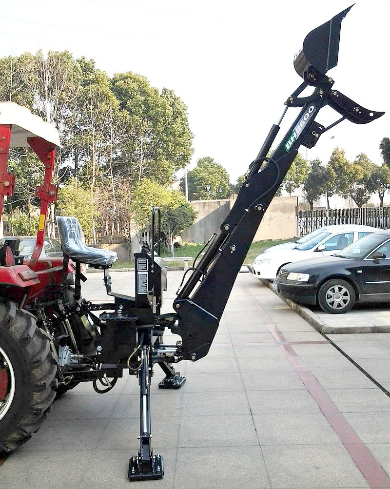 Backhoe Tractor Attachment BH8600 15' Bucket with Thumb, PTO 3 Point Linkage Excavator Hydraulic Western Pacific