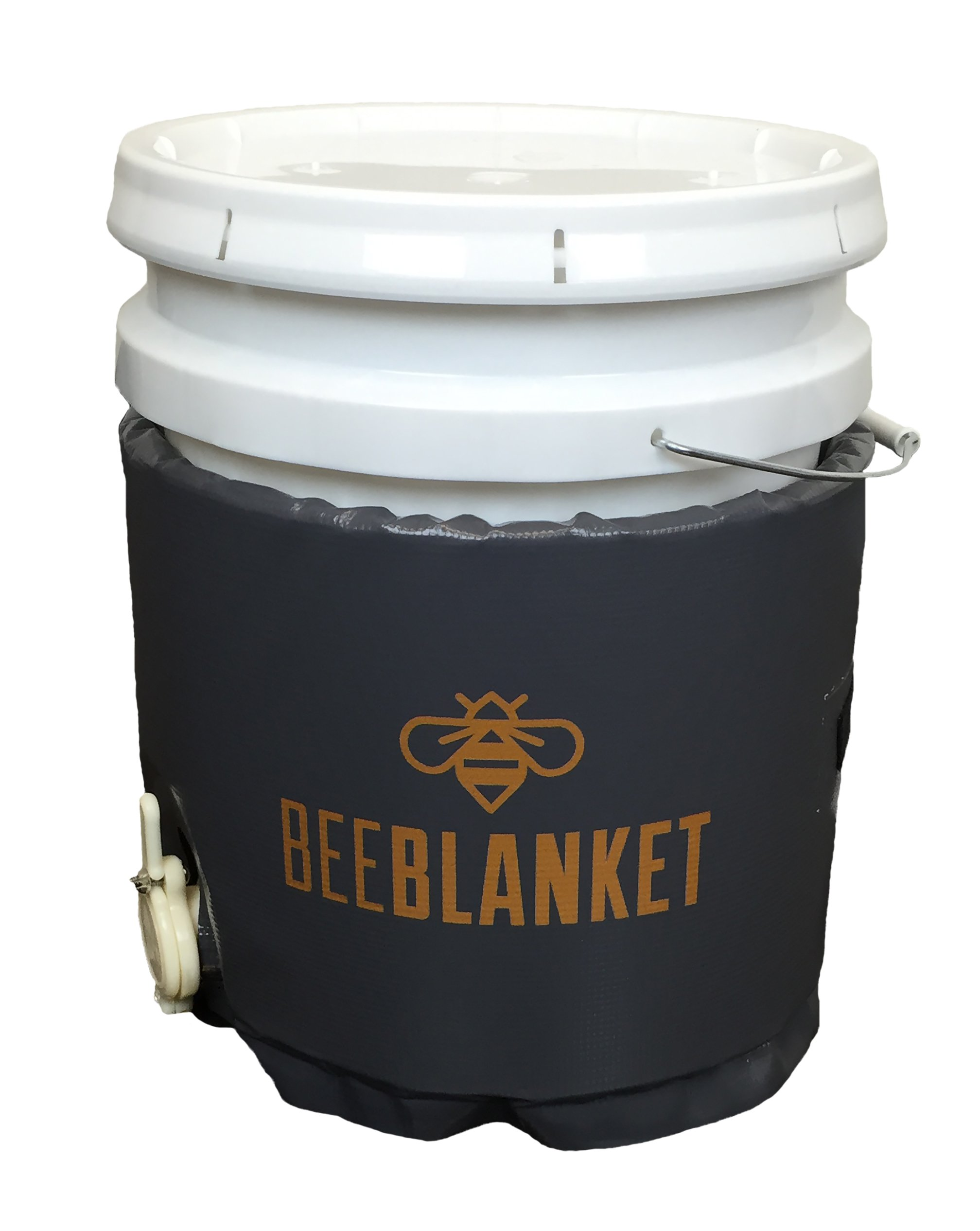 Powerblanket BB05GV Bee Blanket Honey Heater, 5 gal Pail Heater with Cutout for Gate Valve, Charcoal Gray