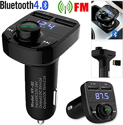 Handsfree Car Kit Wireless Bluetooth FM Transmitter MP3 Player Dual USB Charger