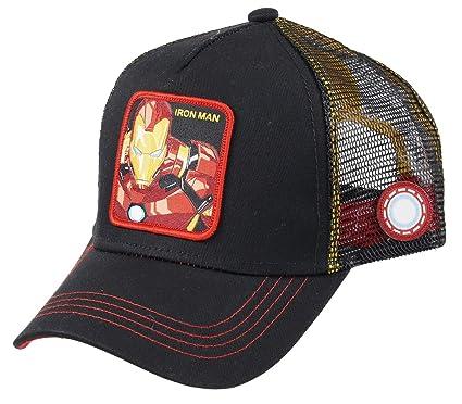 lujo llega mejor elección Collabs Capslab Iron Man Trucker Cap Marvel Black - One-Size ...