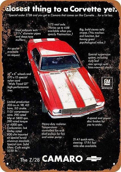 Metal Tin Sign  corvette sign  Bar Pub Home Vintage Retro Poster Cafe ART