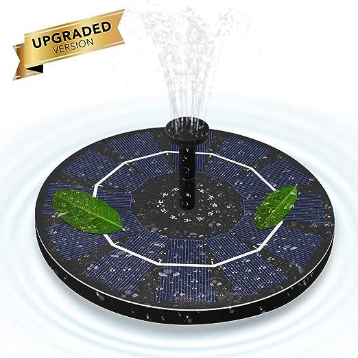 ALLOMN Fuente Solar, Jardín Flotante Bomba de Agua solar de 50 cm de Altura, 4 Cabezas
