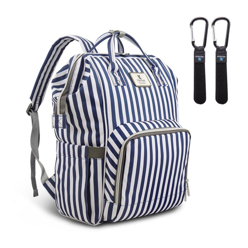贅沢品 Hafmall 多機能おむつバッグ バックパック 防水 & 旅行 お腹 防水 おむつバッグ Blue 43224-2866 B07FVQGGPN Blue & White Stripes Blue & White Stripes, 肉のヤマト:cb44e8b6 --- arianechie.dominiotemporario.com
