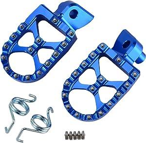 NICECNC Racing Foot Pegs Footpegs WIDE FAT for WR250F YZ250F 2001-2018 WR450F YZ450F 2003-2018 YZ250X YZ450FX 2016-2018 YZ85 2002-2018 YZ125 97-2018 YZ250 98-2018 YZ125X 2017-2018 YZ250FX 2015-2018