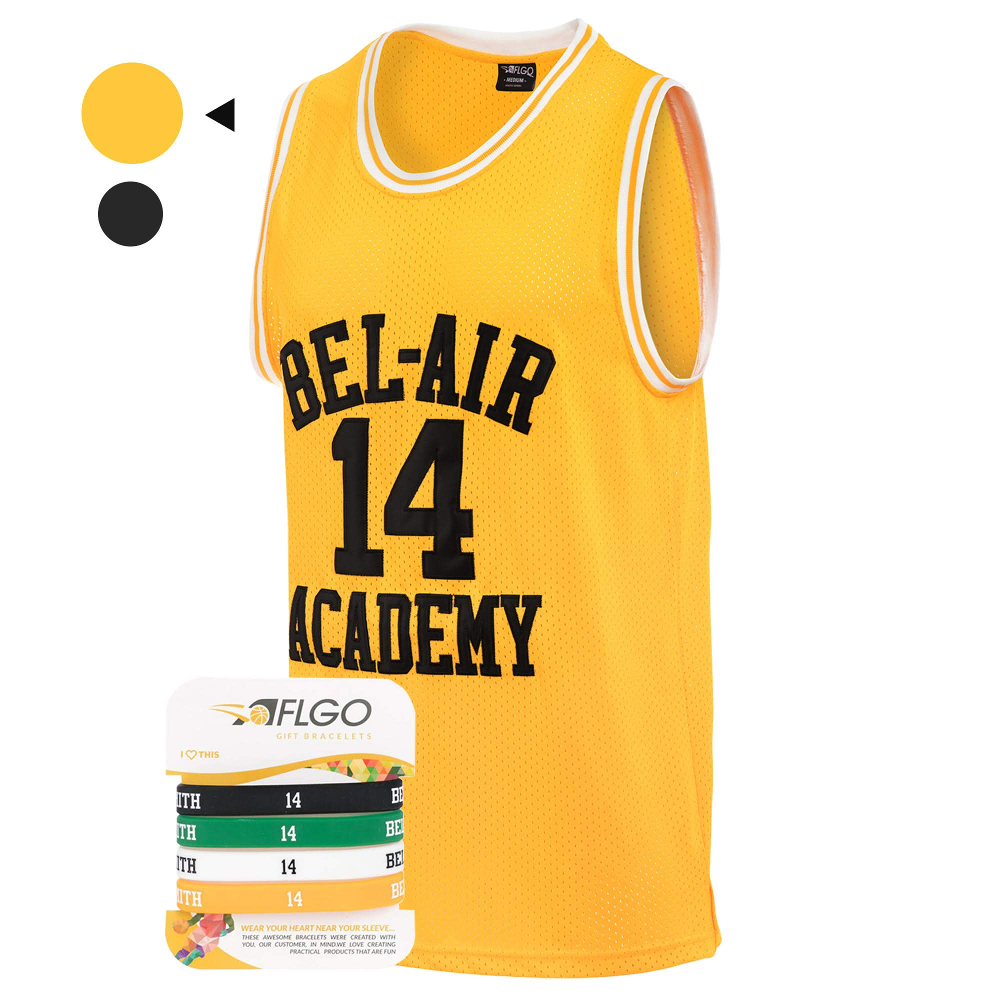 925ca4cd7cc29 AFLGO Fresh Prince of Bel Air  14 Basketball Jersey S-XXXL – 90 s Clothing  Throwback Will Smith Costume Athletic Apparel Clothing Top Bonus Combo Set  with ...