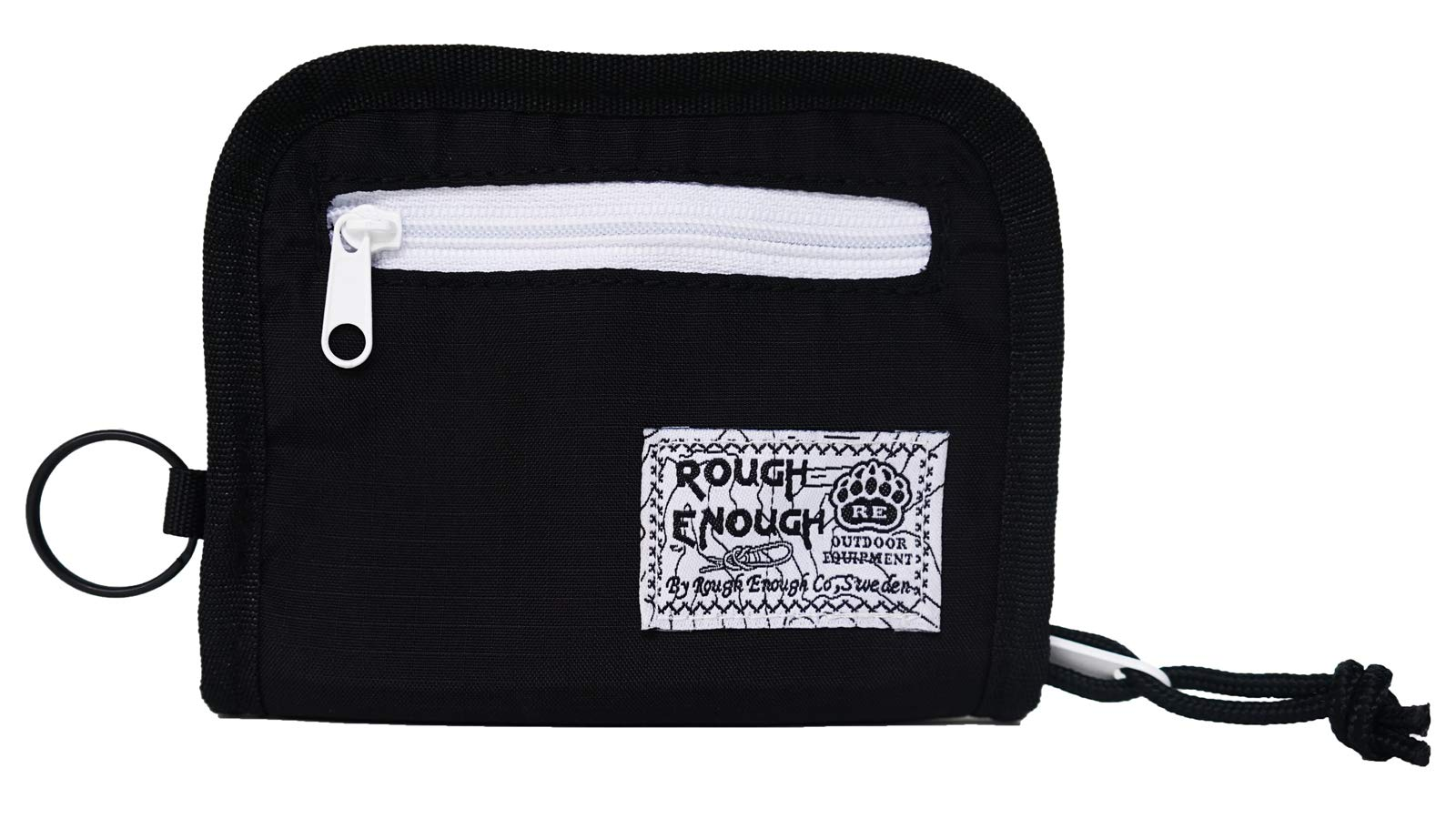 Rough Enough Cute Minimalist Travel Credit Card Zipper Wallets Holder Purse Bag Money Cash Coin Case Pouch Organizer with Detachable Neck Strap Lanyard and Key Ring for Boy Girl Women Men Sport School by RE ROUGH ENOUGH